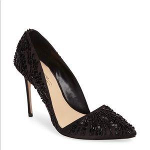 Vince camuto ova d'orsay black pump heels